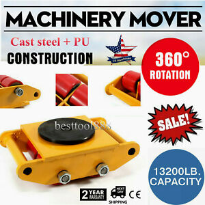 Machinery Mover Dolly Skate Roller Move 360 Rotation 6 Ton 13200lb Heavy Duty