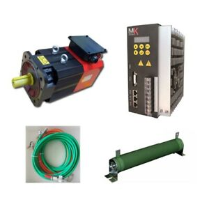 Total Set 3 Phase 220vac 7 5kw 48nm High Speed Spindle Servo Motor And Driver