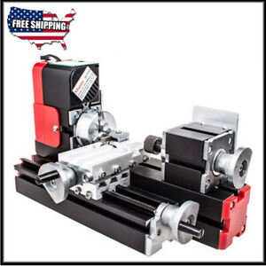 Dc 12v 24w Diy Miniature Cnc Metal Multifunction Mini Lathe Machine 20000rev min