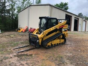 2018 Caterpillar 299d2 Ah Cat Track Skid Steer Loader And Brushcutter