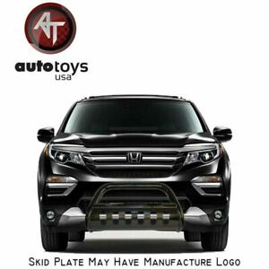 Atu Fits 17 20 Honda Ridgeline Matte Black Bull Bar Grille Bumper Brush Guard
