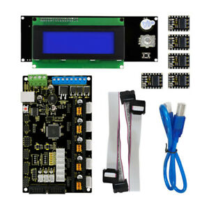 Mks Base V1 2 5pcs Drv8825 Driver lcd 2004 Controller Board 3d Printer Kit