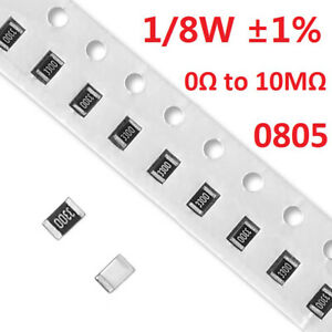 0805 Smd chip Resistors resistance 1 8w 1 Full Range Of Values 0 To 10m