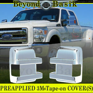 2008 2016 Ford F250 F350 F450 F550 Chrome Mirror Covers Full Towing Overlays