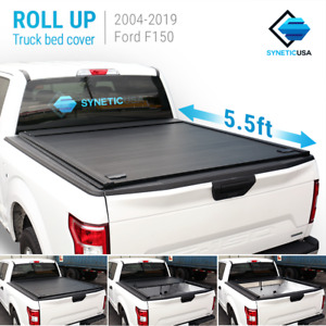 Aluminum Retractable Roll Up Hard Tonneau Cover Bed For 2004 19 Ford F 150 5 5ft