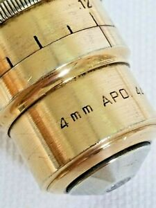 American Optical Ao spencer 44x Apochromatic Microscope Objective N a 0 95
