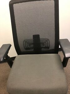 Haworth Zody Task Office Chair Black Frame Tilt Lock Lumbar Support