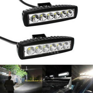 Lot 18w 6led Spot Light Work Bar Lamp Driving Fog For Offroad Suv 4wd Car Truck