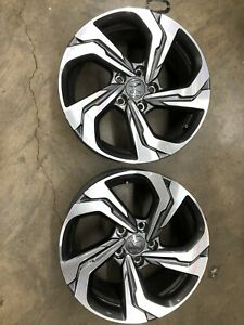 Two 2019 Honda Accord Oem Factory 17 Wheels Free Shipping