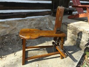 Vintage Leather Workers Stitching Bench Harness Maker S Bench