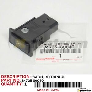 New Genuine Toyota Land Cruiser Lx450 Center Differential Lock Switch 1995 1997