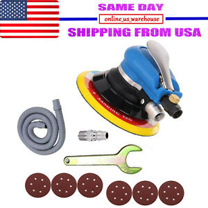 6 Air Body Random Orbital Palm Sander Da Buffing Sanding 6 Discs 150mm Auto