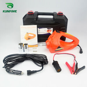 Dc 12v Electric Impact Wrench 480 N M 1 2 Drive Power With Portable Hand Box