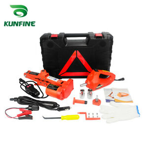 12v 2ton Car Electric Tire Lifting Car Jacks With Tire Gauge And Impact Wrench