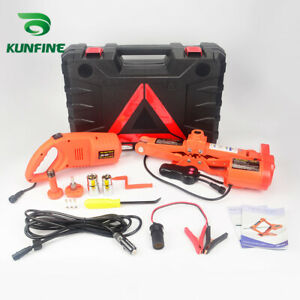 12v 3t Car Electric Tire Lifting Car Jacks With Impact Wrench And Tire Gauge