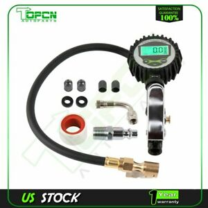 Digital Tire Inflator With Pressure Gauge Medium 200 Psi Air Chuck High Accuracy