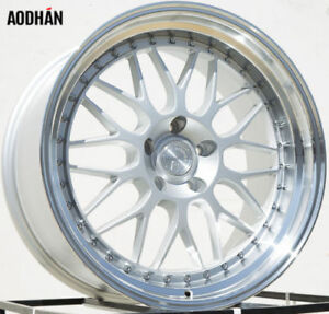 Aodhan Ah02 19x11 15 5x114 3 Silver W Machined Lip Non Staggered Set Of 4