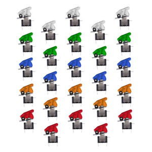 25 Pieces 12v 20a 5 Color Led Toggle Switch Spst On off For Car Truck Atv