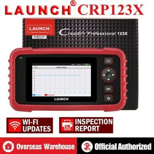 Launch X431 Crp123x Obd2 Diagnostic Scanner Auto Code Reader Abs Srs As Crp123