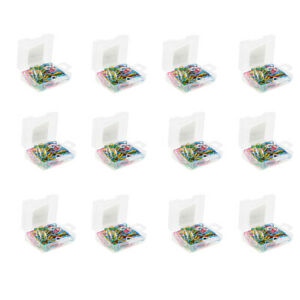 12 Packs 1020 Pcs Assorted Color Paper Clips Vinyl Coated Smooth 28mm