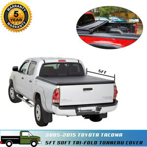 Soft Tri fold Tonneau Cover Fit 05 15 Toyota Tacoma 60inch 5ft Short Truck Bed
