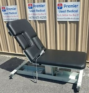 Mpi Ultrasound Table W Hand Control Model 2283 W New Black Upholstery