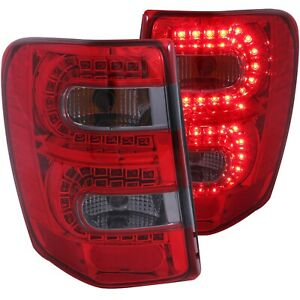 Anzo L E D Tail Lights Red Smoke For 99 04 Jeep Grand Cherokee
