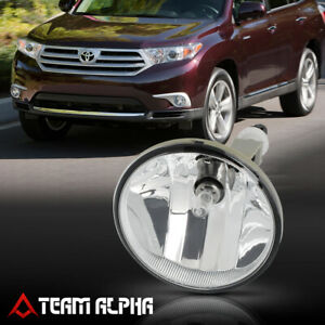 Fits 2011 2013 Toyota Highlander Lh Rh Clear Oe Replacement Bumper Fog Light