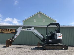 2012 Bobcat E35 Mini Excavator 33 Hp Kubota Diesel Low Cost Shipping Rates
