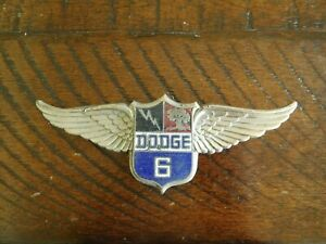 1928 1929 Dodge Victory 6 Winged Radiator Grill Emblem Mascot Cloisonne Ornament