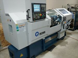 Used 2017 Romi Combination Manual cnc Turning Center Lathe Siemens Control 16x39