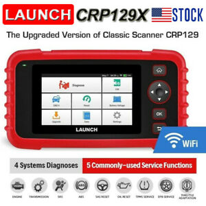Launch X431 Crp129x Obd2 Diagnostic Scan Tool Auto Reader 4 System Tpms Throttle