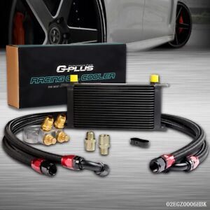 Gplus 19 Row An10 Thermostat Adaptor Engine Oil Cooler Kit 2 Black Oil Lines