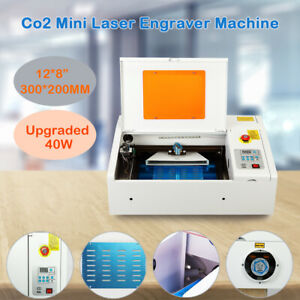 Upgraded 40w Co2 Laser Engraver Cutting Machine With Panel Control 300 200mm