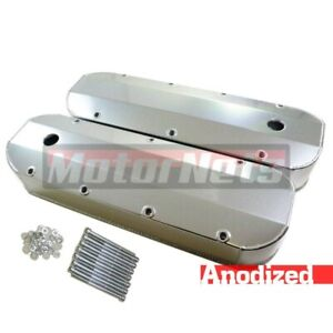 Anodized Bbc Big Block Chevy Fabricated Aluminum Valve Cover 396427 454 502 Tall