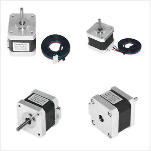 1 2 4pcs 2 Phase 4 Wire 42mm 1 8 Stepper Motor Nema 17 For 3d Printer Extruder