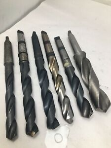 Lot Of 6 Mt3 3mt Morse Taper 3 Drill Bits Cobalt Hss 51 64 1 7 16 Lot O