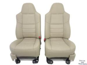 Ford Super Duty F250 F350 New Camel Tan Leather Refurbished Seats 2008 2009 2010