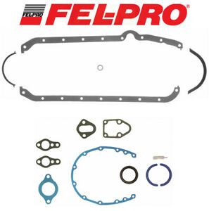 Fel Pro Oil Pan Gasket Thick 1803 race 2702 For Chevy 327 350 383 400 2pc Rear