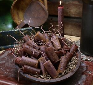 10 Spice Everything Nice Primitive Grungy Handmade Bowl Filler Nugget Candles