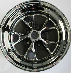 New 1965 Mustang Styled Style Steel Gt All Chrome Wheel 14 X 5 Single Wheel