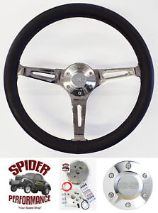 1969 1973 Chevelle El Camino Steering Wheel Ss 15 Black Leather Muscle Car
