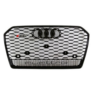 Gloss Black Rs6 Grille For C8 2016 Audi A6 s6 Quattro Badgeless Front Mesh