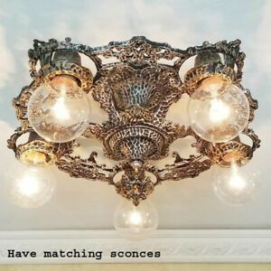624 Quality Antique Gothic Tudor Spanish Revial Ceiling Light Chandelier Sconces
