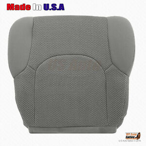 For 2005 2019 Nissan Frontier Front Passenger Bottom Cloth Seat Cover Gray