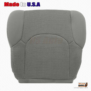 For 2005 2019 Nissan Frontier Driver Bottom Replacement Cloth Seat Cover Gray