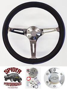 1969 1994 Camaro Steering Wheel Bowtie 15 Black Leather Muscle Car