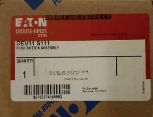 new In Box Crouse Hinds Dev11 s111 Dev11 S111 Explosion Proof Push Button