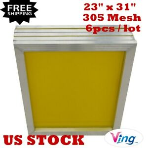 Us Stock 6pcs 23 X 31 Aluminum Silk Screen Printing Frame With 305 Mesh Count