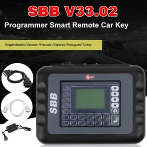 Sbb Car Key Programmer Transponder V33 02 Diagnostic Tool Obdii Multi Language